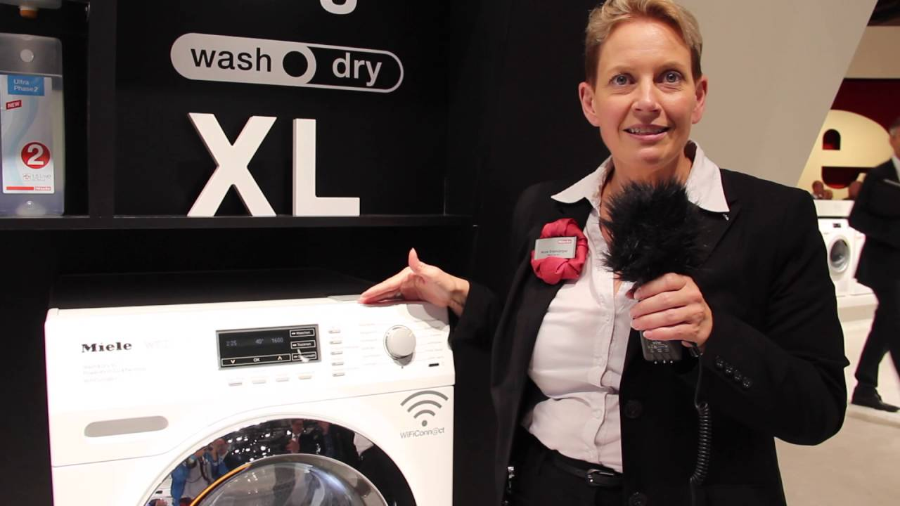 Ifa vorführung miele waschtrockner mit twindos youtube