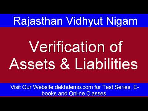 Verification of assets aand liabilities !! Jr. Accountant!! Junior Accountant