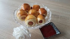 Würstchen im Blätterteig/ Mein Last Minute Abendessen/Sausages in puff pastry / last minute dinner