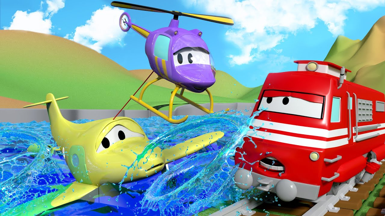 Hela Si Helikopter Troy Si Kereta 🚉 Truk Kartun Untuk Anak Anak Indonesian Cartoons For Kids