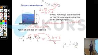 YGS Fizik - Basınç - Sıvı Basıncı / nettekurs.com Online YGS Kursu - Uzaktan Eğitim Dershanesi