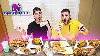 WHO CAN EAT THE ENTIRE TACO BELL MENU THE FASTEST?!