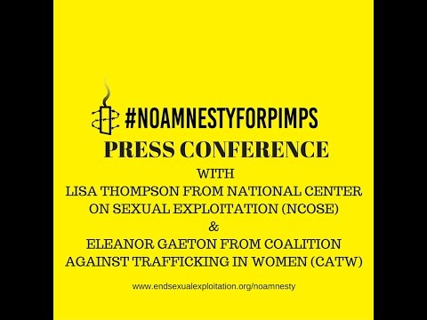 """PRESS CONFERENCE: """"No Amnesty for Pimps"""" campaign launched against Amnesty International"""