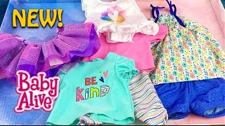 New Baby Alive Doll Mix n Match Outfit Set from Toys R Us Unboxing and Details!