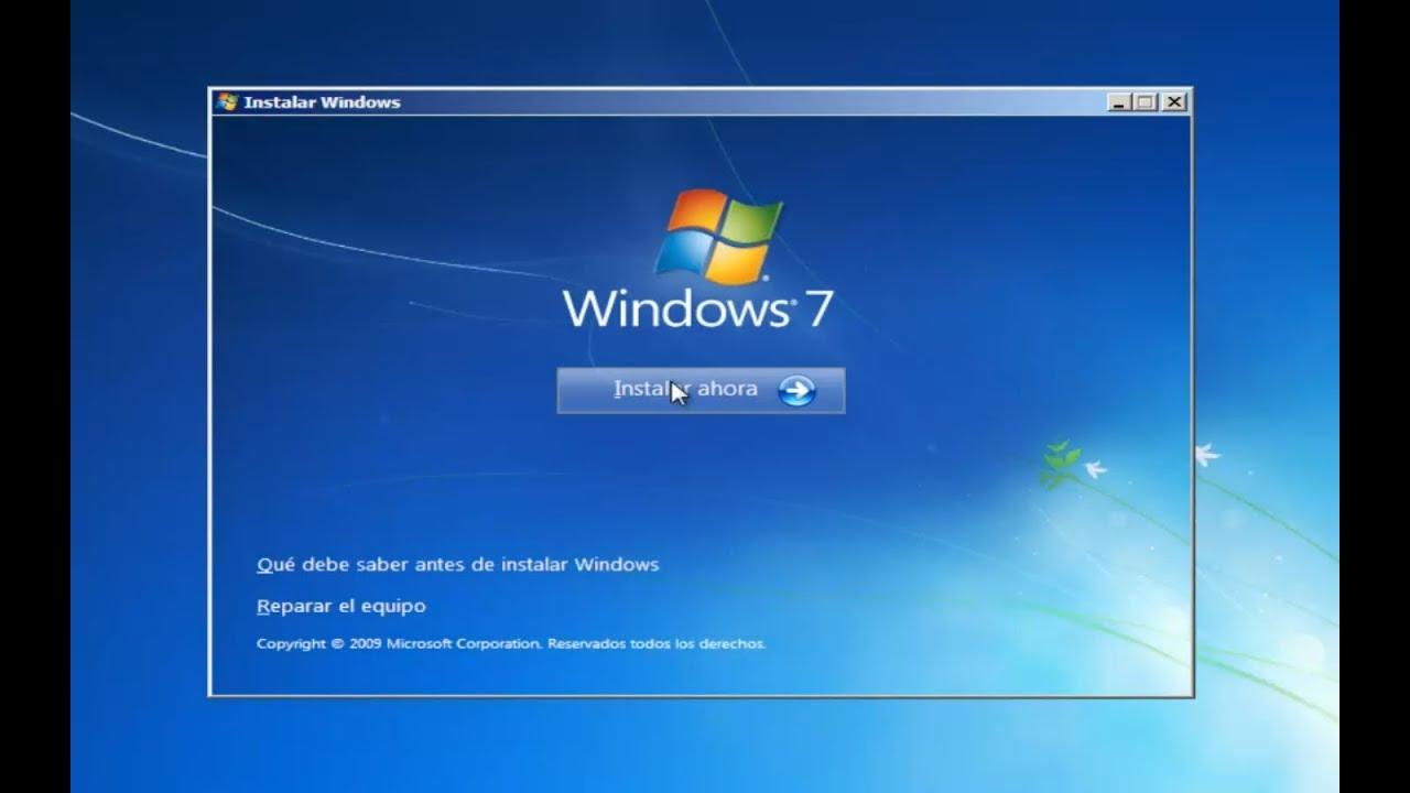 Instalación de Windows 7 Professional - 32bits - YouTube