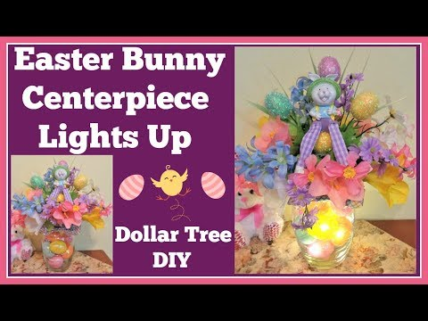 Easter Bunny Center Piece Lights Up