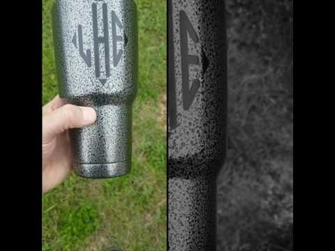 Custom Silver Vein Powder Coated tumbler