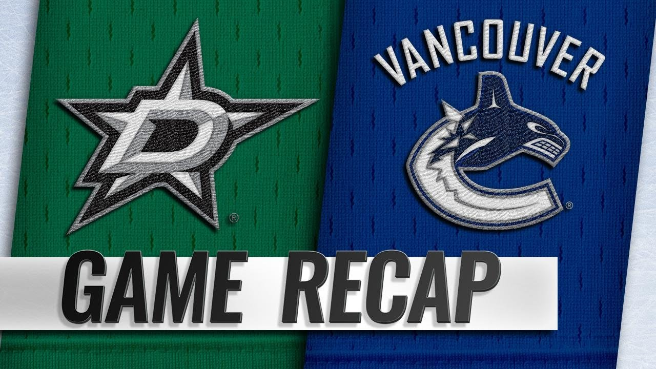 78687d5e4 Stars rally in the 3rd to beat Canucks - YouTube