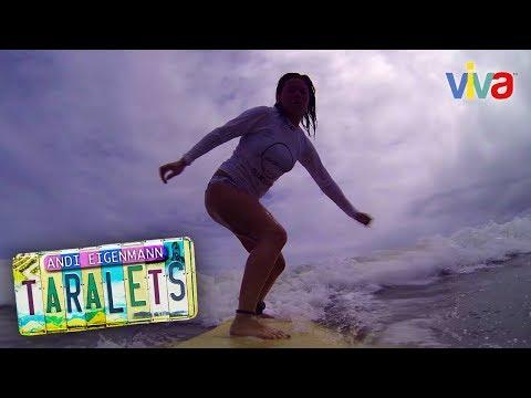 Andi Eigenmann goes surfing in Baler