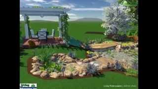 Water Garden Design - 3D Model - Walkthrough