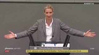 Rede von Alice Weidel zur Regierungspolitik der Bundeskanzlerin am 12.09.18