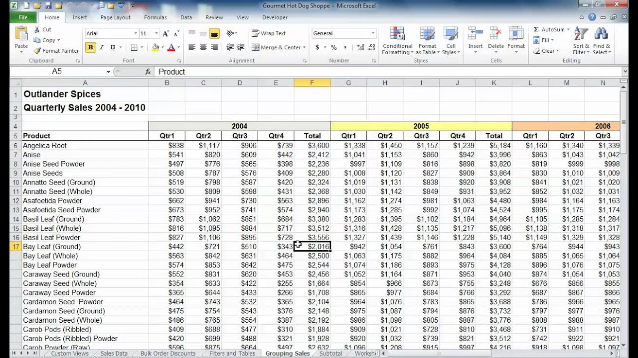 Select large amounts of data in Excel - YouTube