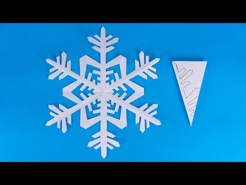 Paper Snowflake for Christmas Decorations | How to make a snowflake out of paper