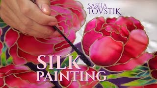 Batik. Silk painting & authentic dresses creation by Sasha Tovstik.