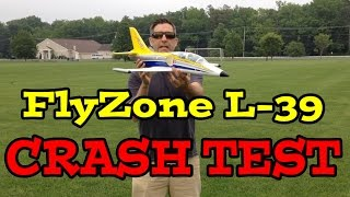 FLYZONE L-39 RC JET Reveiw & CRASH 90+MPH  Video