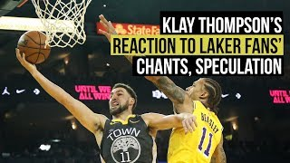 Klay Thompson reacts to Laker chants, free agency speculation