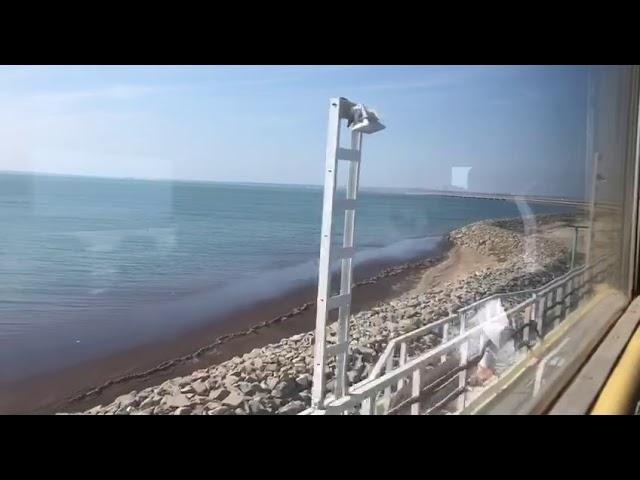 Тестовый поезд с журналистами проехал по Крымскому мосту