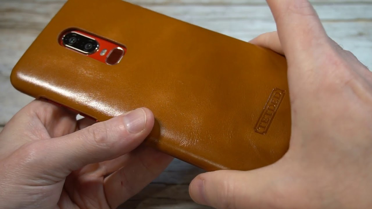 detailed look 8c643 aac90 TETDED Premium Leather Case for OnePlus 6 Unboxing and Review