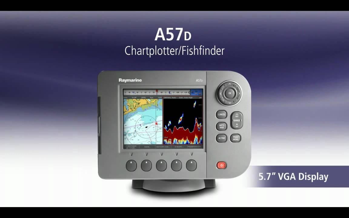 Raymarine A50D Chartplotter/Fishfinder (no preloaded charts)