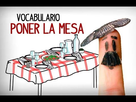 Learning spanish tableware vocabulary. Intermediate spanish vocabulary