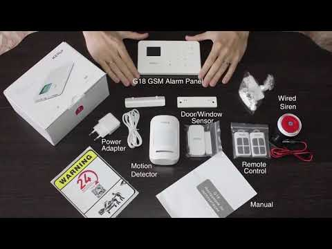 KERUI G18 Wireless Home GSM Security Alarm System DIY Kit APP Control With Auto Dial Motion Detector