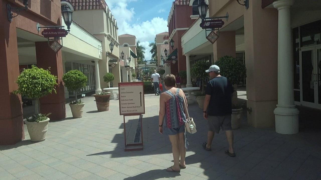 Shopping Inside Miromar Outlets - Estero, Florida