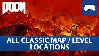 Zapętlaj Doom 2016 - All Classic Map / Secret Level Locations / Doom & Doom II Easter Eggs   iPrzemek