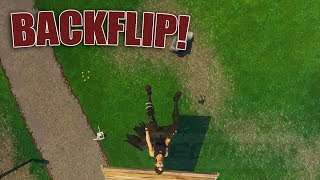 *NEW* How To Do A Backflip In Fortnite With No EMOTE | Cool Backflip Trick | Fortnite Glitch PS4 XBOX