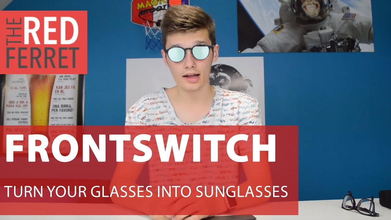 eea61531e7 Frontswitch Glasses - 2 in 1 Glasses/Sunglasses! [REVIEW] - YouTube
