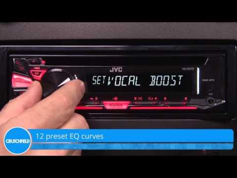 JVC KD-R370 Display and Controls Demo | Crutchfield Video