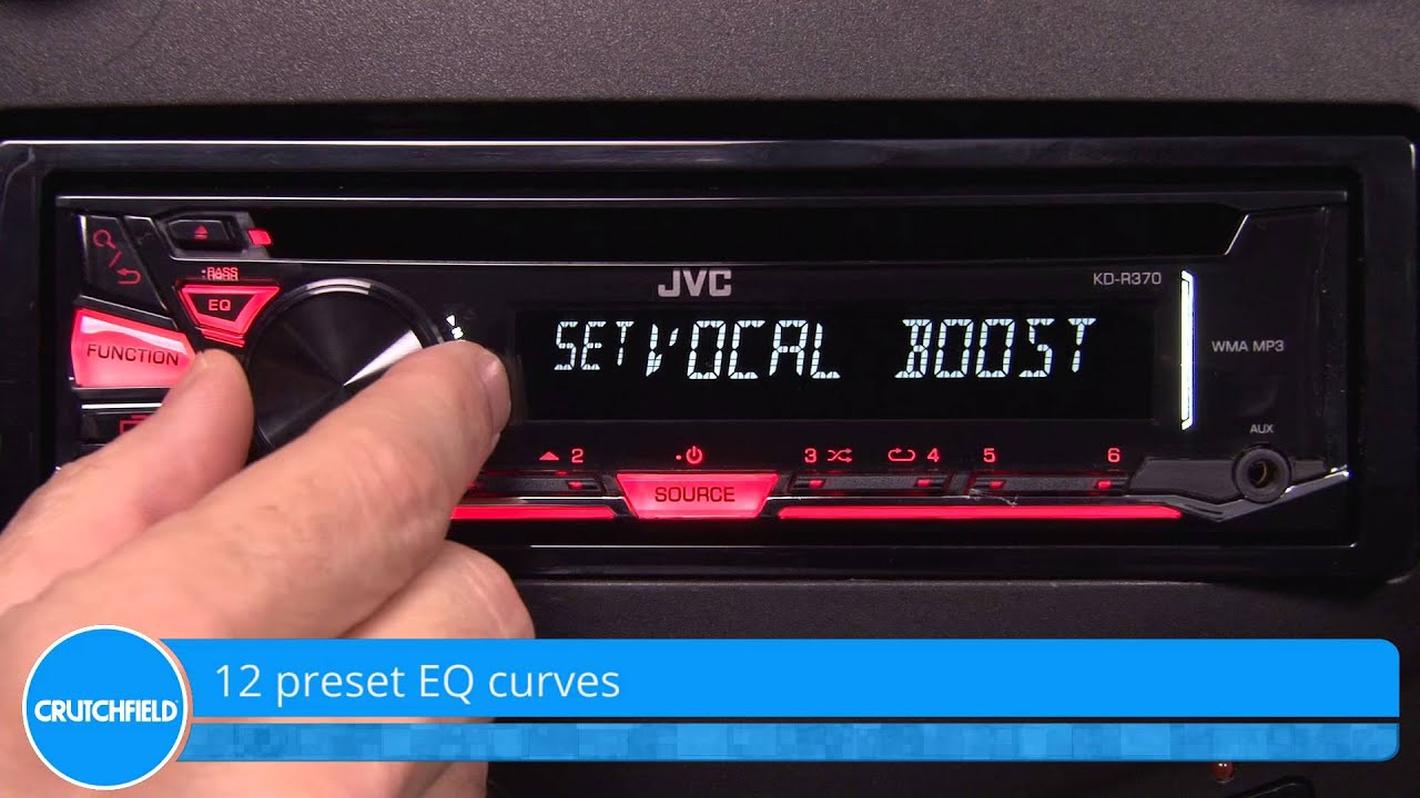 Jvc Kd R370 Display And Controls Demo Crutchfield Video Youtube R540 Wiring Diagram