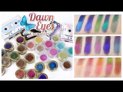 MULTICHROME PIGMENTS! Swatching Dawn Eyes Cosmetics – The Premiums + Mix Tape Vol 1 & 2 | BN REVIEWS