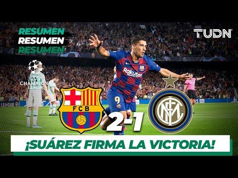 Resumen y goles   Barcelona 2 - 1 Inter de Milan   Champions League - J2 - Grupo F   TUDN