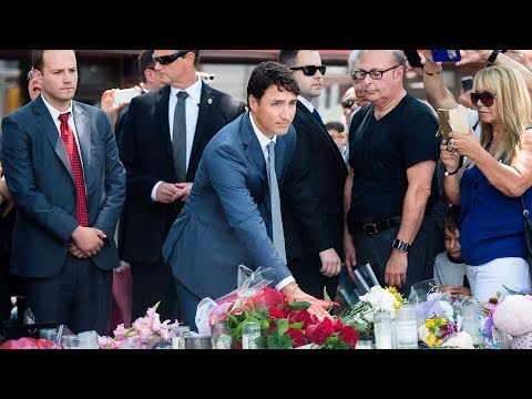 Trudeau visits Danforth shooting site, attends funeral
