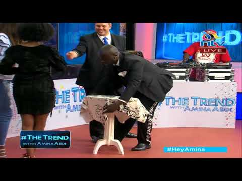 #theTrend:  Marcel Oudejans and Mchawi show off their magic tricks
