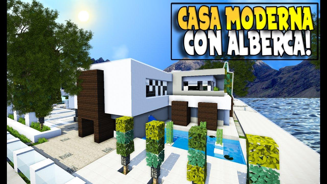 Minecraft una epica alberca en una bella casa moderna for Casa moderna bella faccia
