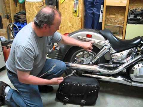Honda VTX Custom Pannier Brackets Part 1