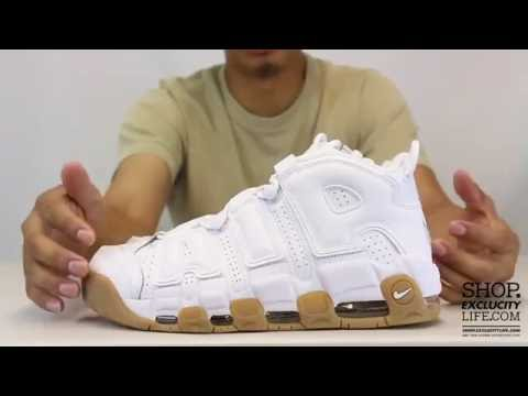811cdddf8b1 Nike Air More Uptempo White - Gum Unboxing Video at Exclucity - YouTube