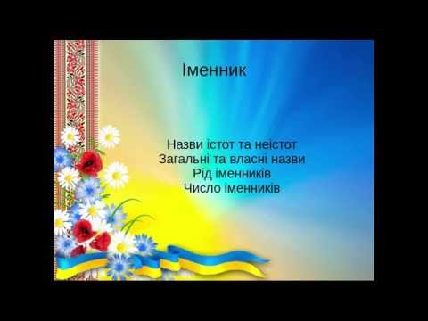 Українська мова - Іменник Частина 1(назви істот та неістот, власні та загальні назви)