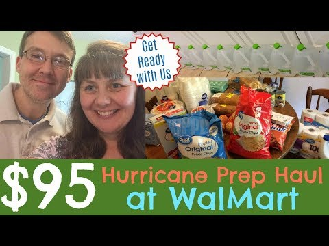 $95 Hurricane Prep Haul at Walmart- Get Ready With Us