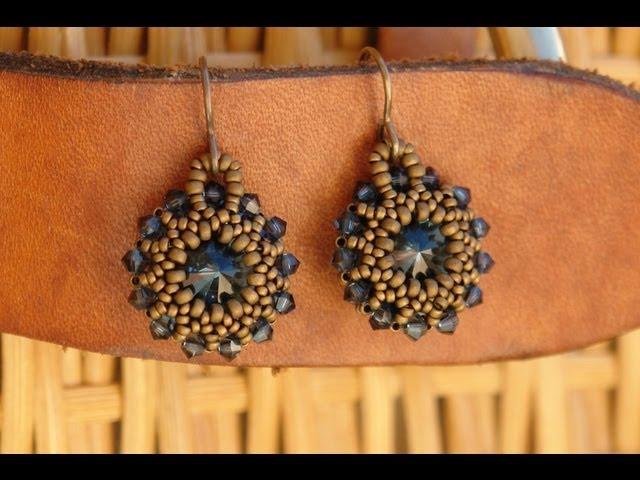 Sidonia S Handmade Jewelry Rivoli Earrings Tutorial Youtube