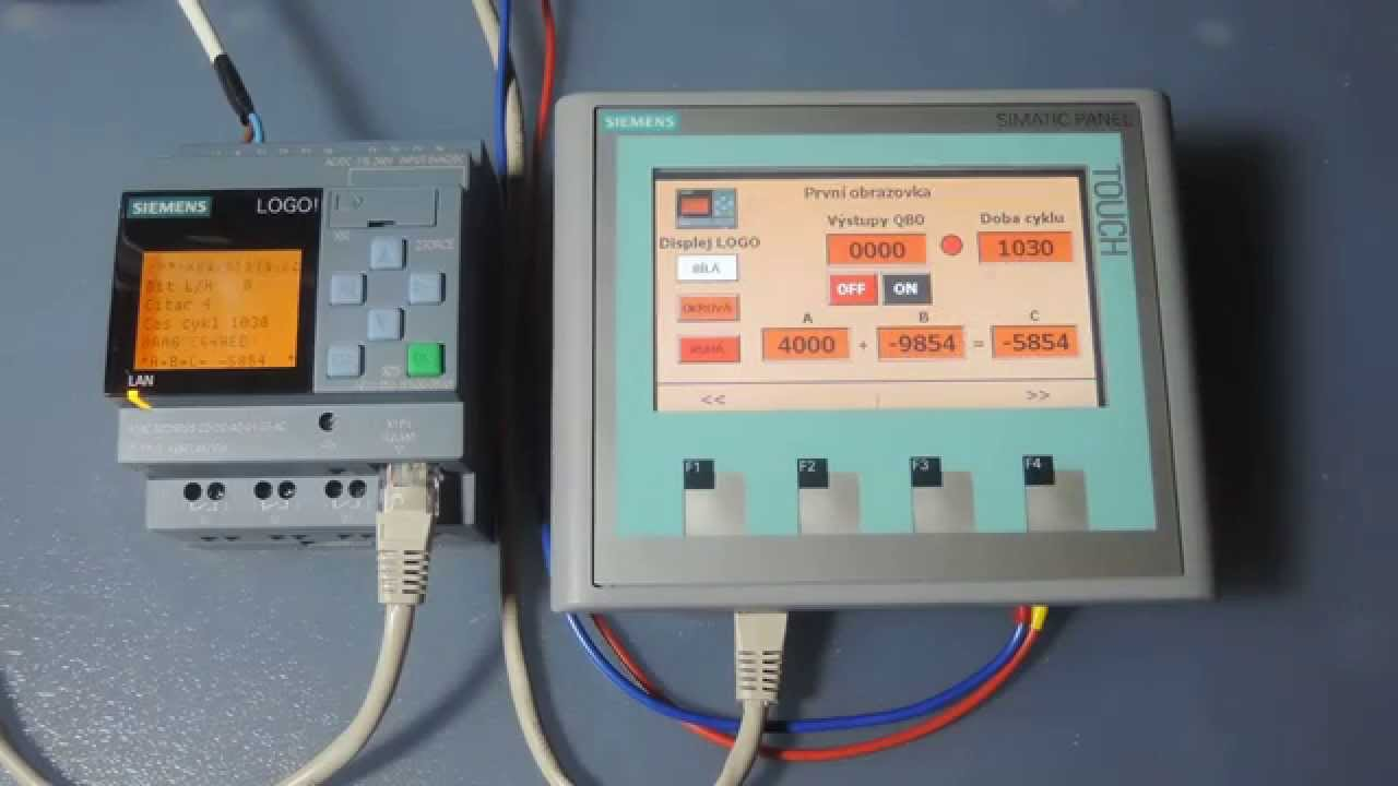 Logo 0ba8 And Siemens Hmi Panel Ktp400 Basic Youtube Wiring Diagram