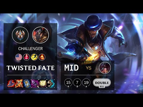 Twisted Fate Mid vs Akali - NA Challenger Patch 10.16