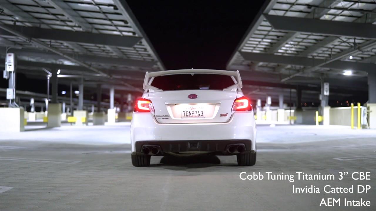 cobb tuning titanium exhaust subaru wrx sti comparison