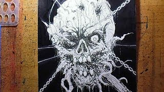 How To Draw Hellraiser Ripper Skull