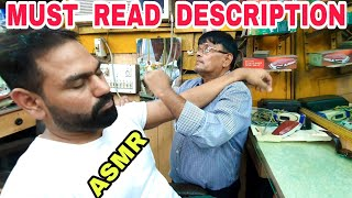 ASMR head massage with neck cracking by Legendary barber Sarwan