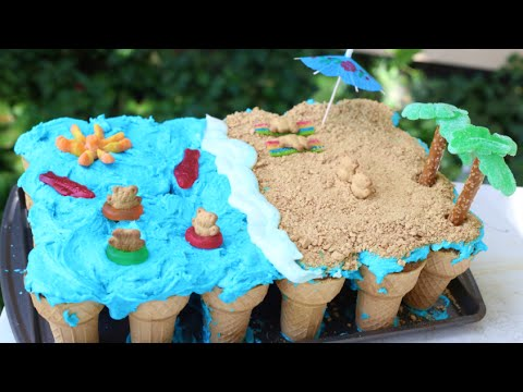 How To Make A Pull Apart Cake Beach Theme Youtube