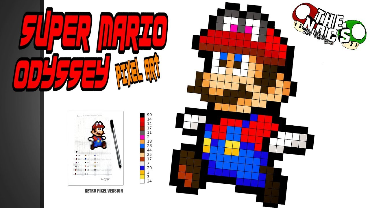 Super Mario Odyssey Pixel Art How To Draw A Super Mario Odyssey Pixel Art Thenocs Pixelart