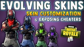 FORTNITE SKIN EVOLUTION & CHEATERS EXPOSED!! Fortnite Battle Royale Skin Customization Update