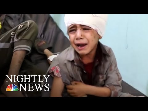 Dozens Of Children Killed After Saudi-Led Airstrike In Yemen | NBC Nightly News